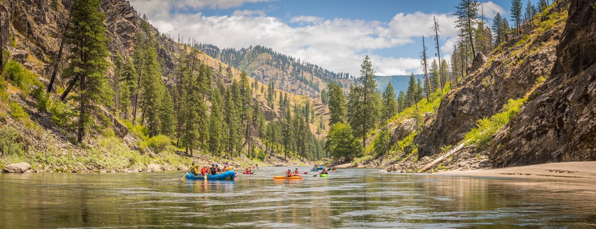 Idaho River Rafting on the Salmon River