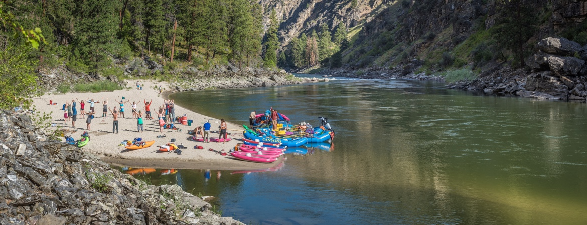 Morning Yoga services on the Salmon River