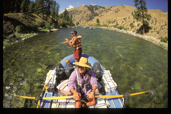 Fishing on the Middle Fork of the Salmon River in Idaho
