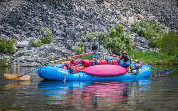 Sweep boat on the Middle Fork of the Salmon River in Idaho