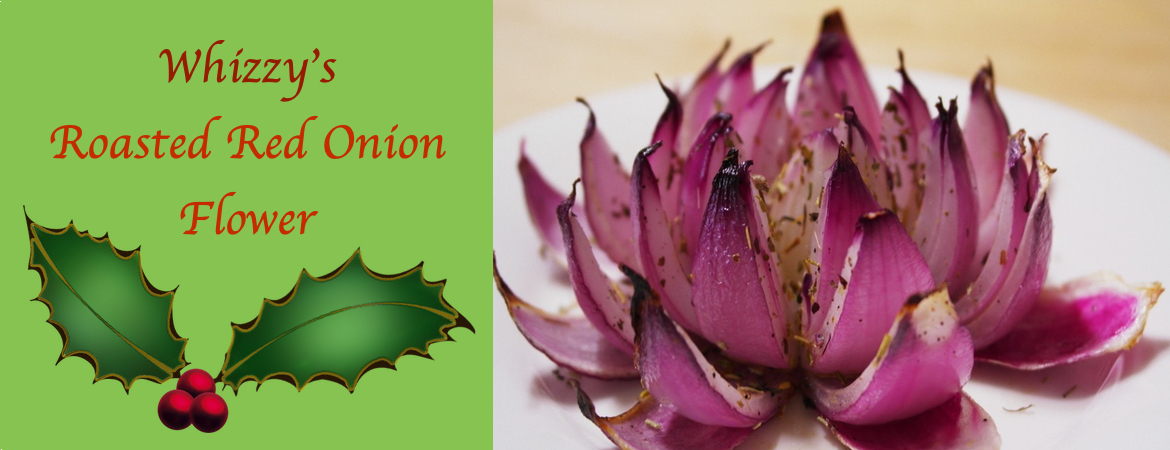 Roasted red onion flower